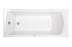 """Ванна акрил (Сантек) 1,6*0,75 м """"Монако XL"""" белая в комплекте (рама,сифон,крепеж к стене) <br>"""