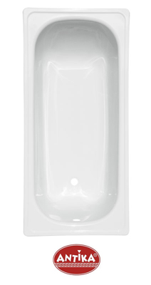 """Ванна стальная (ВИЗ) 1,6*0,7 м Antika """"Белая орхидея"""" цвет белый (ножки в к-те)<br>"""