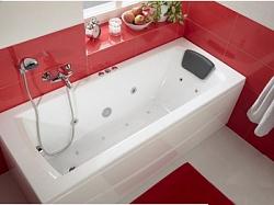 """Ванна акрил (Сантек) 1,6*0,75 м """"Монако XL"""" белая с г/м (База+) в компл рама, сифон, крепеж 360<br>"""
