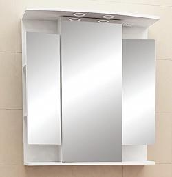 """Зеркало-шкаф """"Виктория"""" 75 см свет, выкл., розетка белое<br>"""
