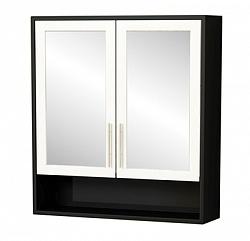 """Зеркало-шкаф """"Нотти"""" 60см, черный<br>"""