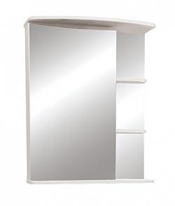 """Зеркало-шкаф """"Керса 01"""" 55 см зеркало слева белое<br>"""