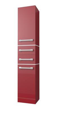 """Колонка подвесная """"Сакура"""" 35 см с 2-мя ящиками, красный<br>"""