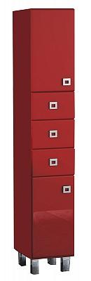 """Колонка  напольная  """"Мелани"""" 34 см, с 3-мя ящиками, красный<br>"""