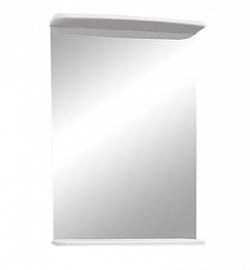 """Зеркало """"Магнолия"""" 50 см с полочкой белое<br>"""