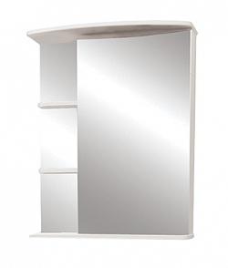 """Зеркало-шкаф """"Керса 01"""" 55 см зеркало справа белое<br>"""