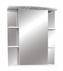 """Зеркало-шкаф """"Магнолия"""" 65 см свет, выкл., розетка белое<br>"""