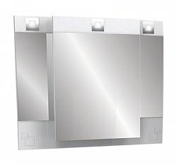 """Зеркало-шкаф  """"Аккорд"""" 80 см , свет, белый<br>"""