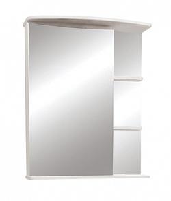 """Зеркало-шкаф """"Керса 02"""" 65 см зеркало слева белое<br>"""