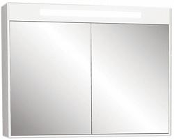 """Зеркало - шкаф """"Рондо""""86см, белый, светильник, вык.розетка<br>"""