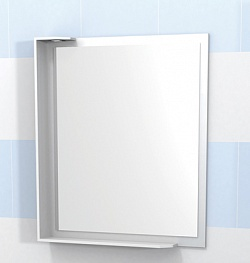 """Зеркало """"Латте"""" 60см с полочкой, свет, белый<br>"""