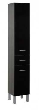 Шкаф-пенал Aquanet Верона 35 б/к черный (напольный)<br>