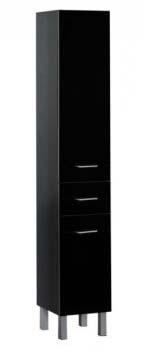 Шкаф-пенал Aquanet Верона 35 черный (напольный)<br>