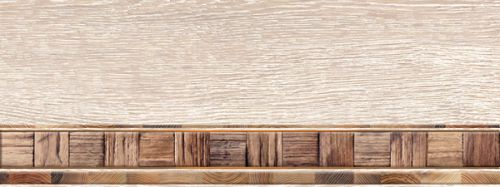 Alma ceramica Merbau Декор Merbau 150*400*9 DWU06MRB024 с бордюром<br>