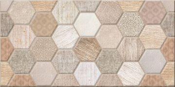 Настенная плитка Asteria Уралкерамика: Плитка облицовочная Asteria 249*500*7,5 соты (1,37/65,76) TWU09ATR404<br>